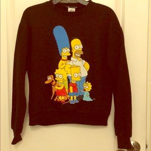 NWT iconic Simpsons sweater in small
